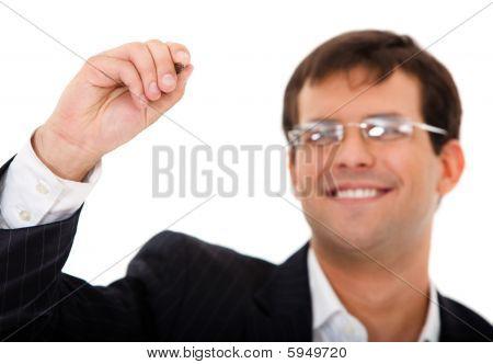 Man About To Write Something