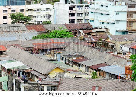 Slum area in Thailand