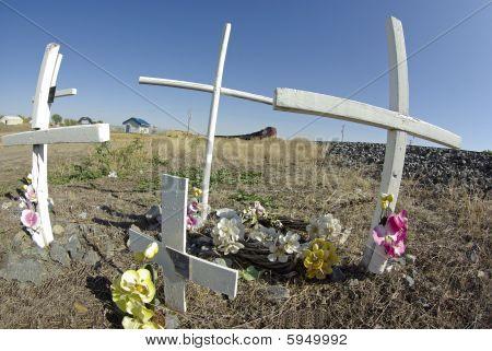 Memorial At Hazardous Railroad Crossing