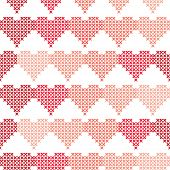 pic of macrame  - Seamless pattern with embroidered hearts - JPG