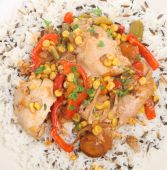 Casseroled Chicken With Rice