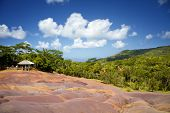 picture of chamarel  - Color Sands on the island of Mauritius - JPG