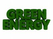 Green Energy Grass Word
