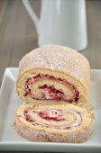 stock photo of whipping  - Swiss Roll  - JPG