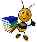 pic of bee cartoon  - Bee - JPG