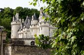 Castel of Rigny-Usse Known as the Sleeping Beauty Castle and built in the eleventh century. Loire Va poster