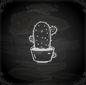 picture of peyote  - Cute Hand Drawn Vector illustration - JPG