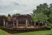 stock photo of polonnaruwa  - Ancient Ruins of Polonnaruwa former Sri Lanka capital - JPG