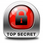 stock photo of top-secret  - top secret icon confidential and classified information private info and privacy property or information sign or button - JPG
