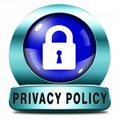 stock photo of personal safety  - privacy policy terms of use for data and personal information protection - JPG