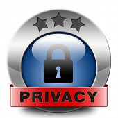 privacy button or icon protection of personal online data or confidential information, password prot