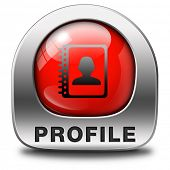 image of avatar  - Profile personal data information and bio icon or button your avatar - JPG