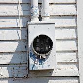 picture of hookup  - Old Power hookup on house - JPG