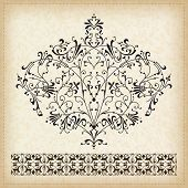 Set of vector decorative ornament elements.