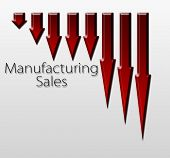 foto of macroeconomics  - Chart illustrating manufacturing sales drop macroeconomic indicator concept - JPG