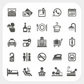 stock photo of iron star  - Hotel and Hotel Services icons set isolated on white background - JPG