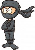 stock photo of ninja  - Cartoon ninja - JPG