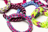image of rubber band  - A group of colorful rubber band bracelets - JPG