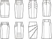 foto of jeans skirt  - Vector illustration - JPG