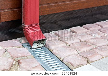 New Home Downspout