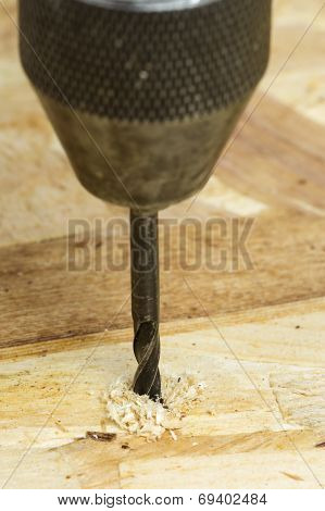 Auger Bit Drilling Wood