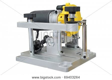 grinder machine for sharpening disk sharpening under the white background