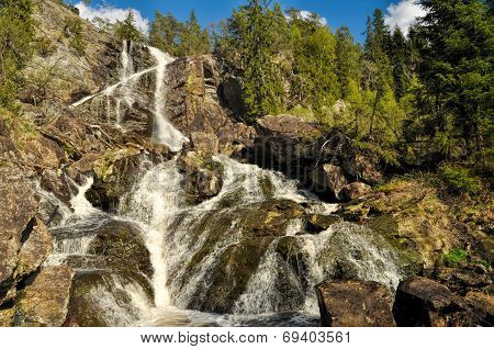 Waterfall Between Sweden And Norway