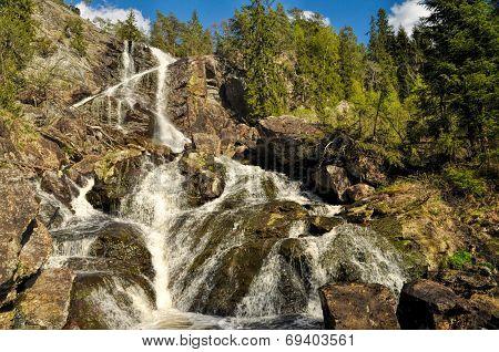 Waterfall Between Sweden And Norway
