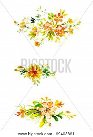 Three Branches With Beautiful Flowers