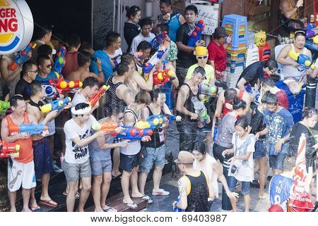 Songkran Or Water Festival In Thailand