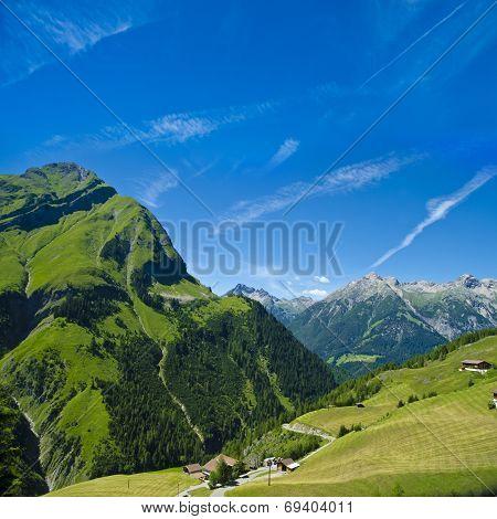 impressing alpine landscape