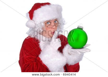 Mrs. Claus With Ornament
