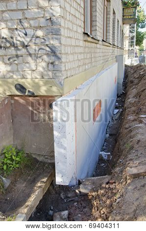 Home Foundation  Concrete Construction And Thermal Insulation  Styrofoam