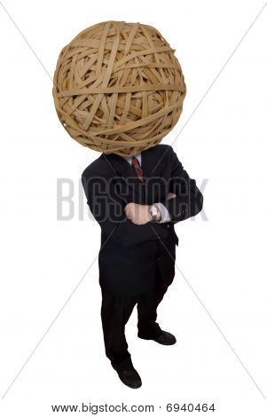 Businessman Rubberband