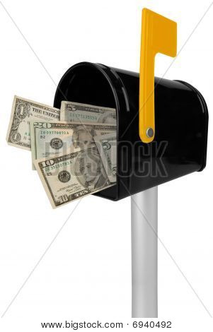 Mailbox With American Money