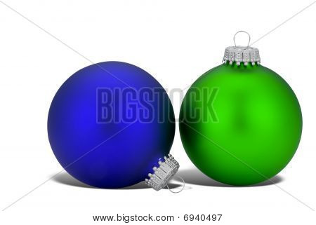 Green And Blue Christmas Balls