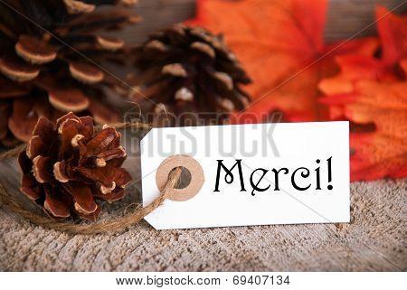 Autumn Label With Merci