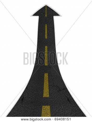 Straight Road Turning Ascending Arrow Concept
