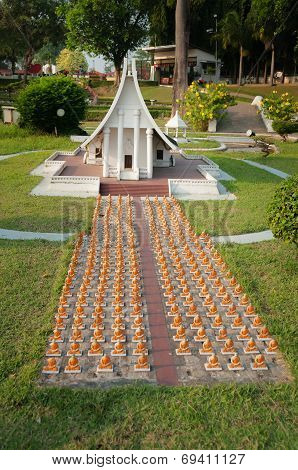 The Dharma Kai Temple In Mini Siam Park