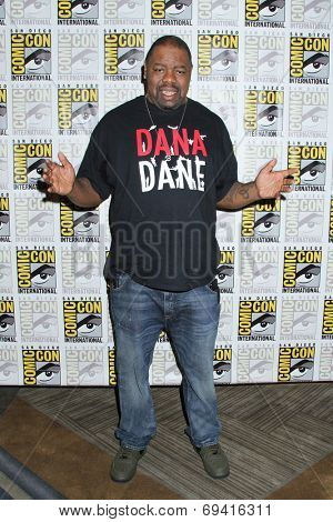 "SAN DIEGO - JUL 25:  BIz Markie at the ""Bates Motel"" Press Line - Comic-Con International 2014 at the Hilton San Diego Bayfront on July 25, 2014 in San Diego, CA"