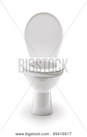 Studio shot of a toilet bowl isolated on white background