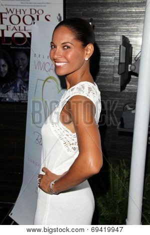 LOS ANGELES - AUG 2:  Salli Richardson at the Vivica A. Fox's Fabulous 50th Birthday Party at the Phillippe Chow on August 2, 2014 in Beverly Hills, CA