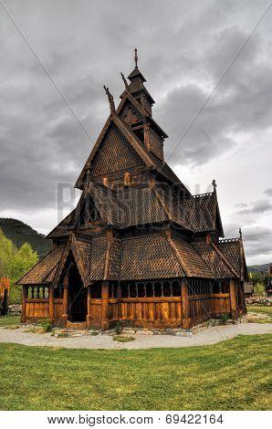 Gol, Wooden Church In Norway