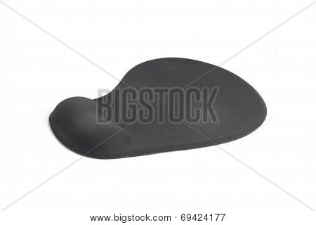 Ergonomic Mouse Pad Isolated On A White Background