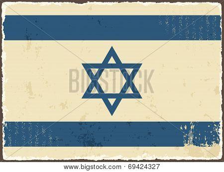 Israeli grunge flag. Vector illustration