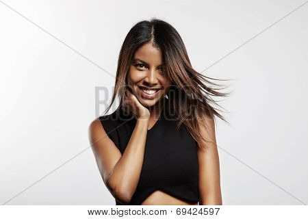 Pretty Latin Woman With Flattering Hairs