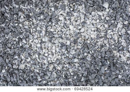 Background of rocky gravel stones closeup