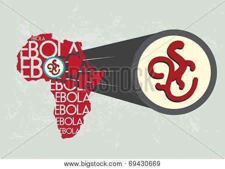 Ebola Virus in Africa Magnified Bigger
