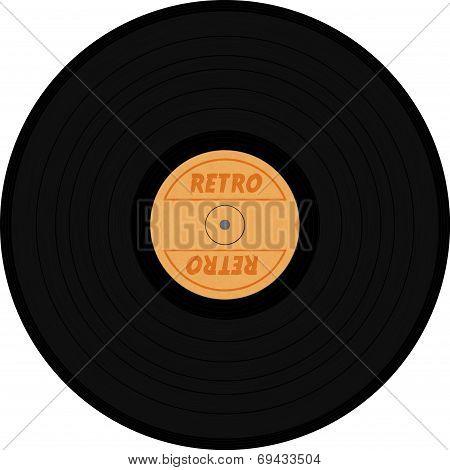 Vinyl Texture With Retro Sign
