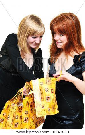 Two Curious Shopping Girls
